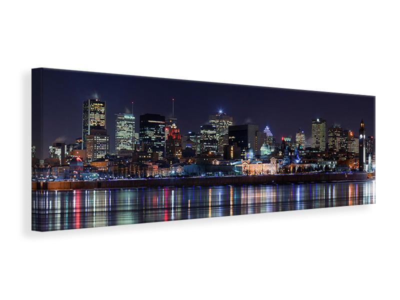 Tableau sur Toile Panoramique Montreal Night