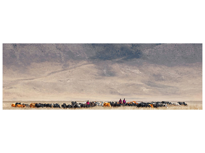 Tableau sur Toile Panoramique Incredible Maasai