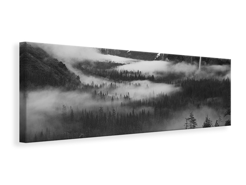Tableau sur Toile Panoramique Fog Floating In Yosemite Valley