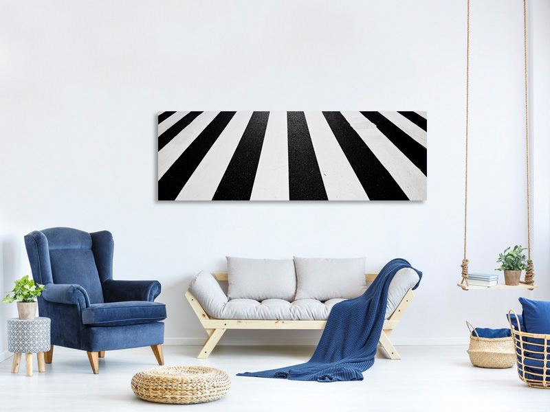 Tableau sur Toile Panoramique Black And White II
