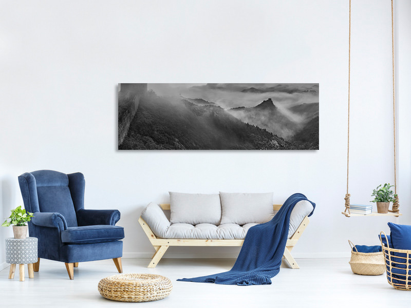 Panoramic Canvas Print Misty Morning At Great Wall