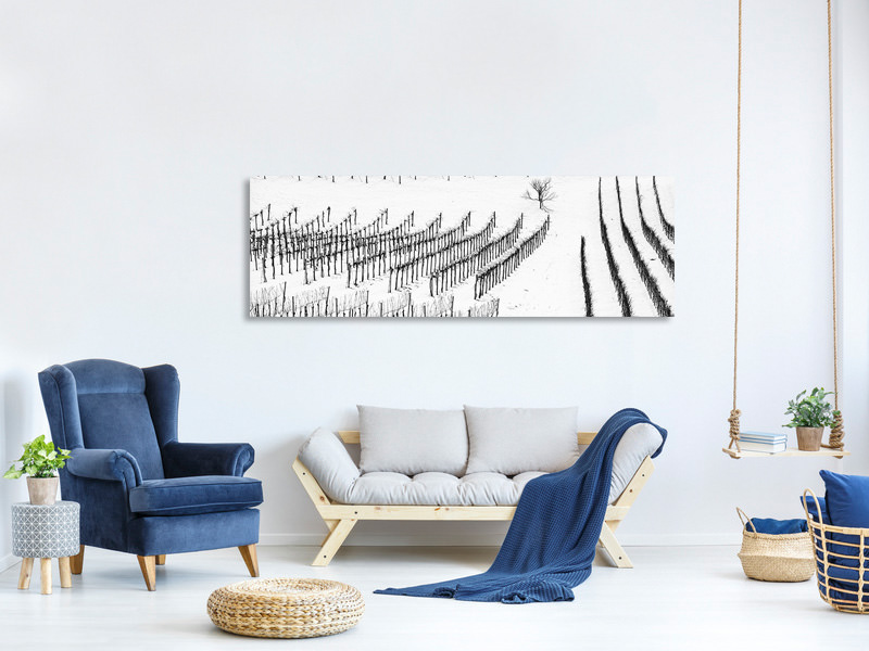 Panoramic Canvas Print Winter Lines