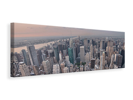 Panoramic Canvas Print Skyline View Over Manhattan