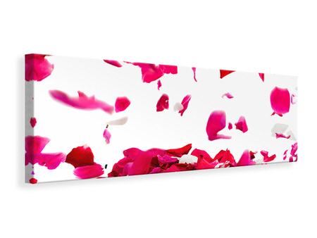 Panoramic Canvas Print Let It Rain Red Roses For Me