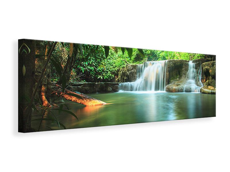 Leinwandbild Panorama Element Wasser