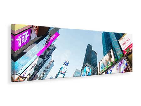 Panoramic Canvas Print Shopping In NYC