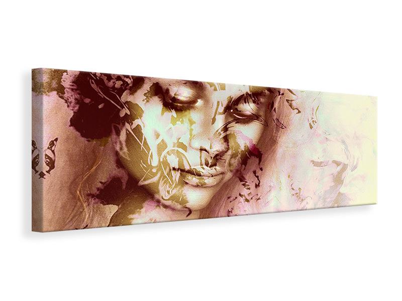 Leinwandbild Panorama Romantisches Portrait einer Schönheit
