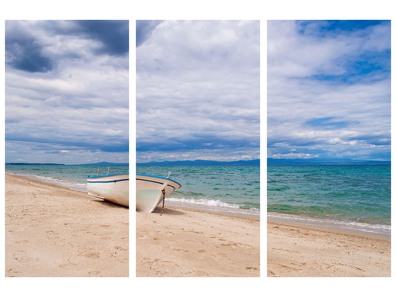 3 Piece Canvas Print Beach parking