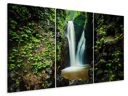 3 Piece Canvas Print 2 waterfalls