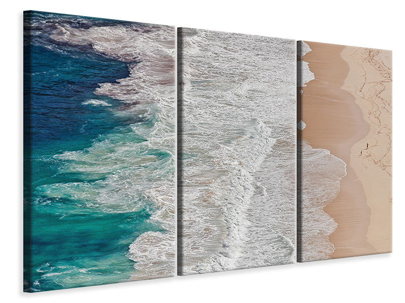 3 Piece Canvas Print Where The Ocean Ends