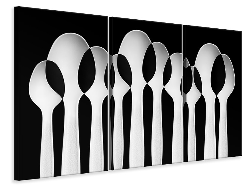 Tableau sur Toile en 3 parties Spoons Abstract: Forest