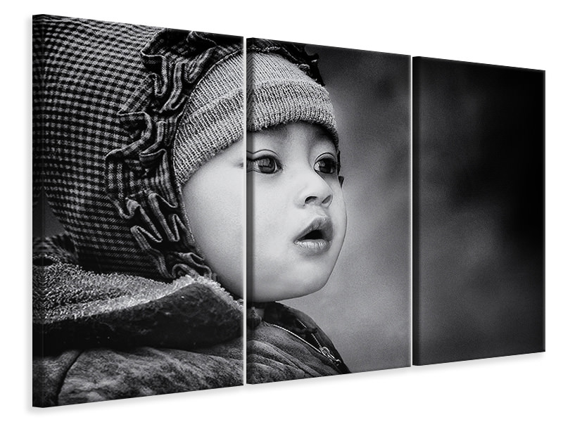 Tableau sur Toile en 3 parties The Kid From Sarangkot