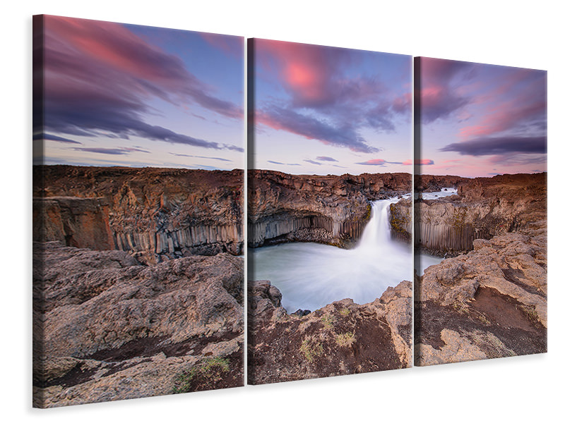 3 Piece Canvas Print A?Ldeyjarfoss