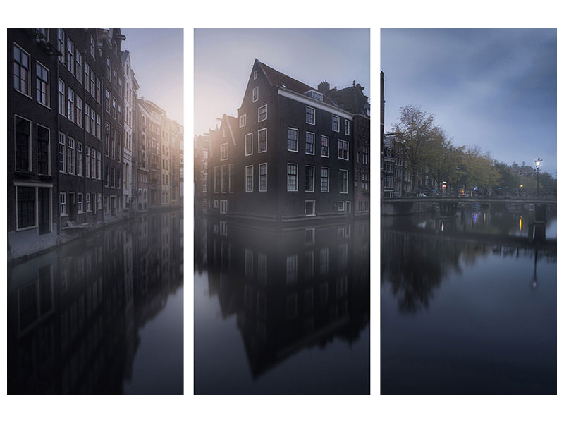 3 Piece Canvas Print Amsterdam Morning I
