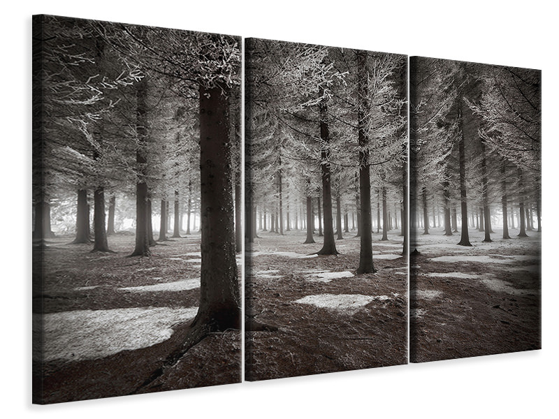 3 Piece Canvas Print The Onset Of Winter