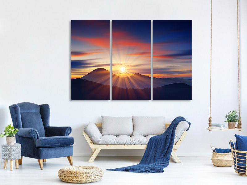 3 Piece Canvas Print Fairytale Landscape