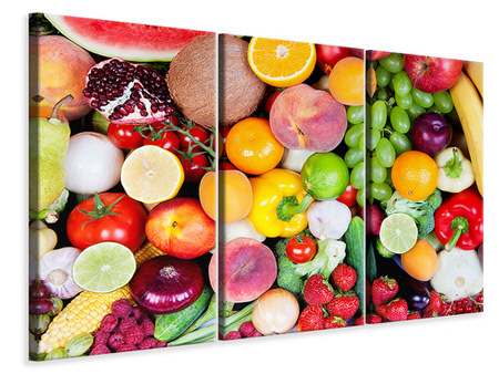 3 Piece Canvas Print Fresh Fruit