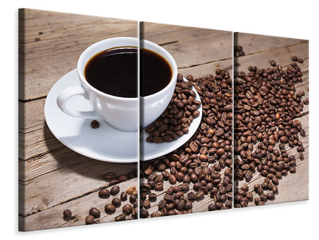 3 Piece Canvas Print Coffee