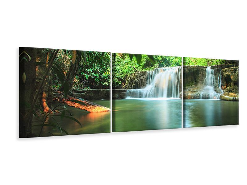 Panorama Leinwandbild 3-teilig Element Wasser