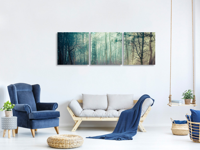 Panoramic 3 Piece Canvas Print Pinewood