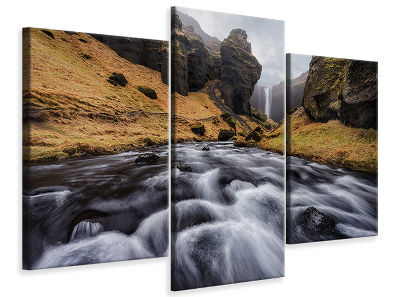 Modern 3 Piece Canvas Print The Hidden Gem