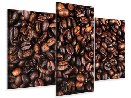 Modern 3 Piece Canvas Print Coffee Beans In XXL