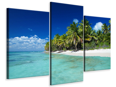 Modern 3 Piece Canvas Print The Dream Island