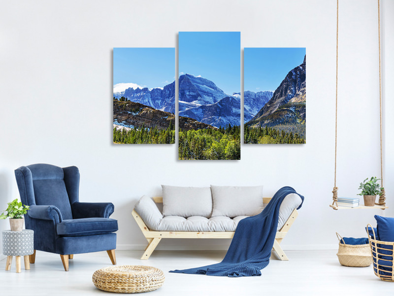 Modern 3 Piece Canvas Print The Summit Counter