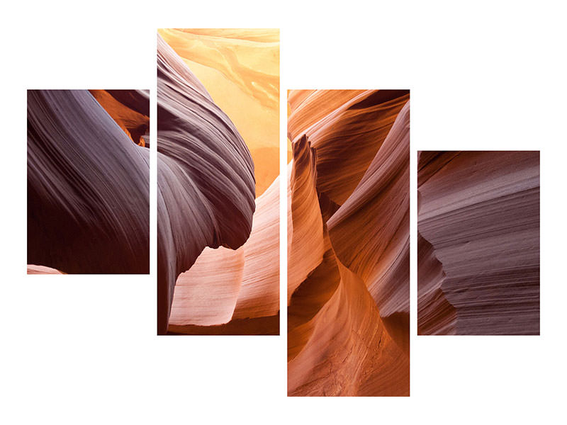 Modern 4 Piece Canvas Print Grand Antelope Canyon