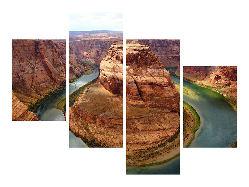 Modern 4 Piece Canvas Print View of the Grand Canyon