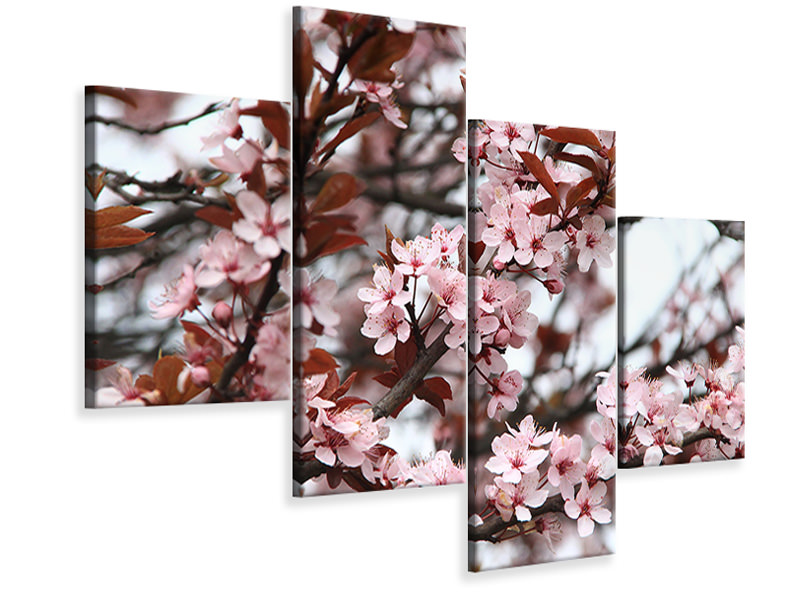 Modern 4 Piece Canvas Print Spring is here