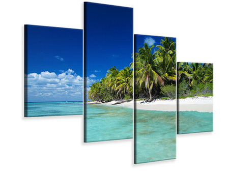 Modern 4 Piece Canvas Print The Dream Island