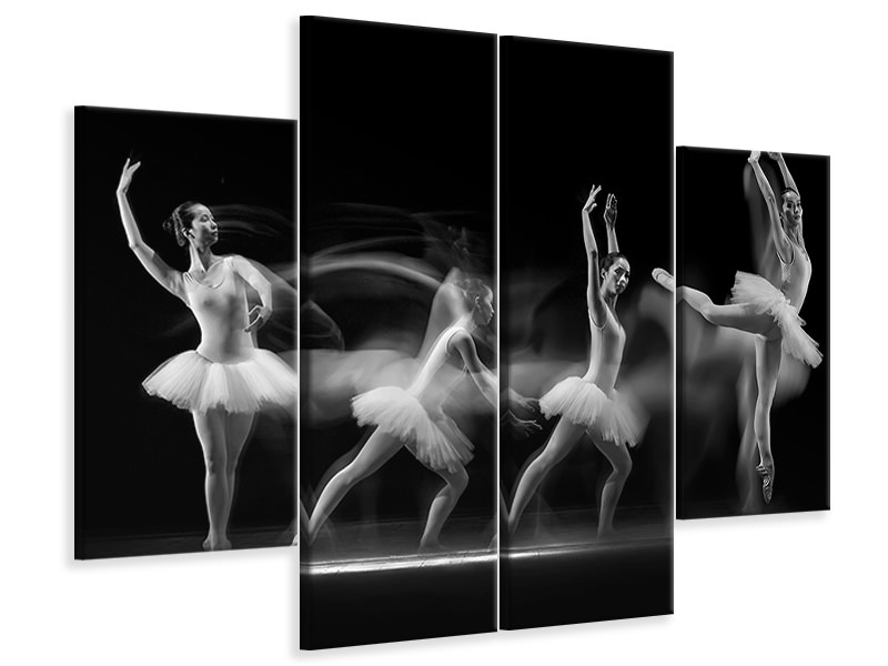4 Piece Canvas Print Balerina Art Wave