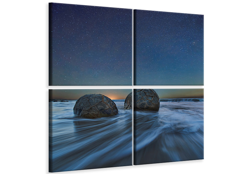 4 Piece Canvas Print Be Together