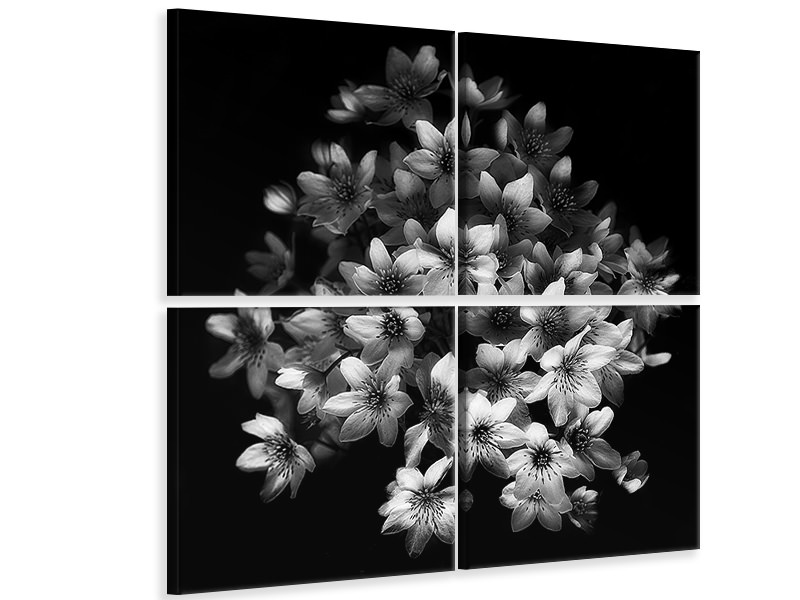 4 Piece Canvas Print Early Sensation