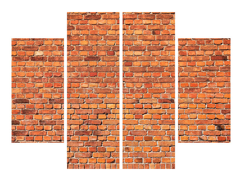 Stampa su tela 4 pezzi Red Brick Wall