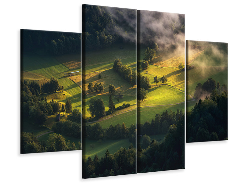 4 Piece Canvas Print Light And Shadow A