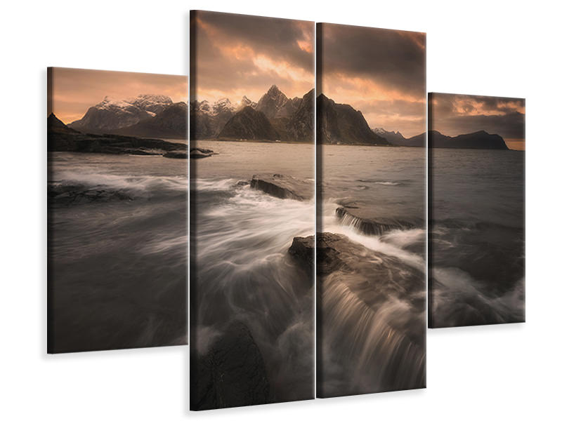 4 Piece Canvas Print Untitled XX