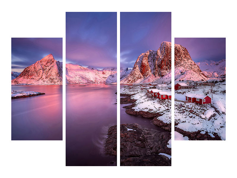 4 Piece Canvas Print Untitled 7
