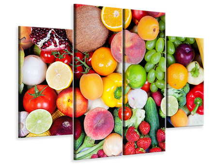 4 Piece Canvas Print Fresh Fruit