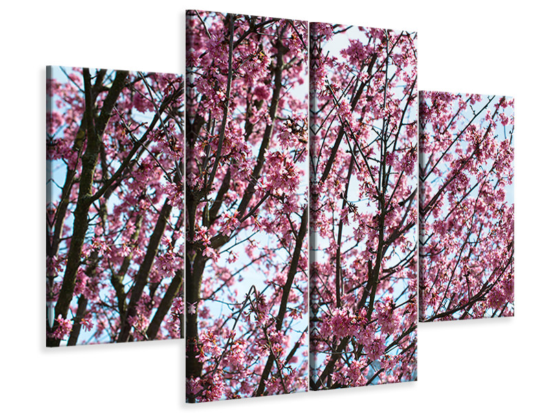4 Piece Canvas Print Japanese Cherry Blossom