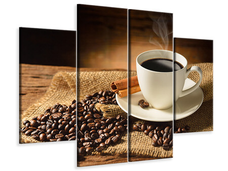 4 Piece Canvas Print Coffee Break