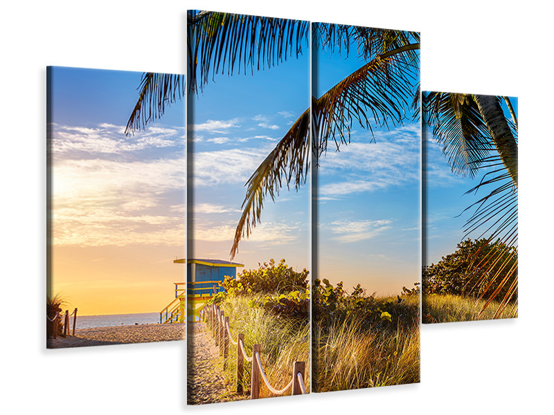 4 Piece Canvas Print Sand Grains