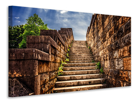 Canvas print stone stairs