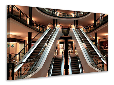 Canvas print Escalator in shopping mall