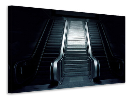 Canvas print Escalator in the dark