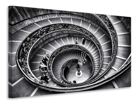 Canvas print Stairs in the Vatican