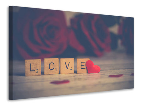 Canvas print Love in letters