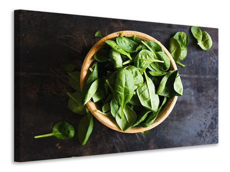 Canvas print Leaves of basil