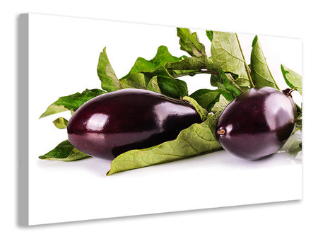 Canvas print Fresh eggplants